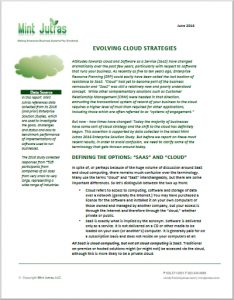 Evolving cloud strategies