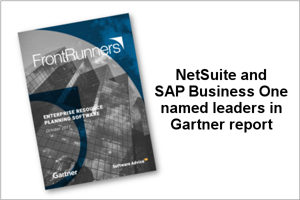 Gartner FrontRunners names NetSutie and SAP Business One as leaders